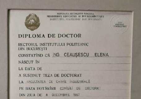 Secvenţial: Întâiul plagiat al ţării, lucrarea de doctorat a Elenei Ceauşescu