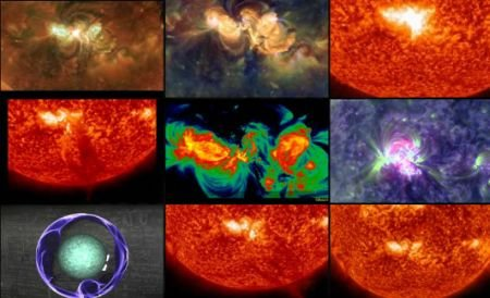 Spectacolul impresionant oferit de Soare. Imagini spectaculoase cu o explozie solară recentă, prezentate de NASA