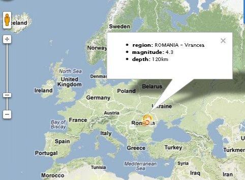 Pământul României s-a zguduit în această dimineaţă. Un cutremur de 4,3 s-a produs în Vrancea