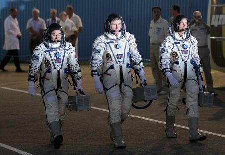 O capsulă Soyuz a fost lansată spre Staţia Spaţială Internaţională. O americancă va prelua comanda ISS