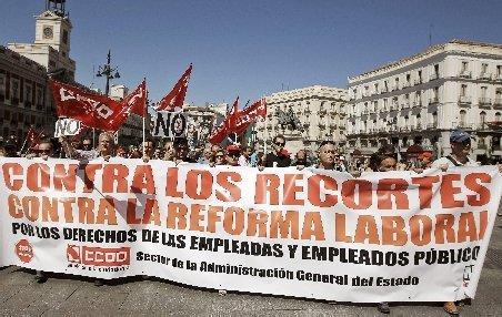 Mii de oameni au protestat în Spania, faţă de noul plan de austeritate al Guvernului