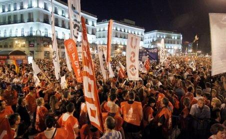 """Spania. Protestatarii, """"calmați"""" cu gloanțe de cauciuc și bastoane"""