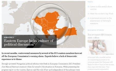 Deutsche Welle: Situaţia din România şi Bulgaria arată că în ţări est-europene lipseşte cultura democraţiei