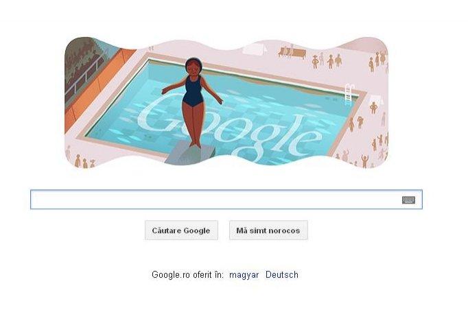 Google şi-a schimbat logoul pentru a marca debutul probelor de sărituri în apă la Olimpiadă
