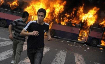 Un autobuz plin cu turişti români a luat foc în Bulgaria