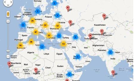 Vezi HARTA INTERACTIVĂ a secţiilor de votare din străinătate