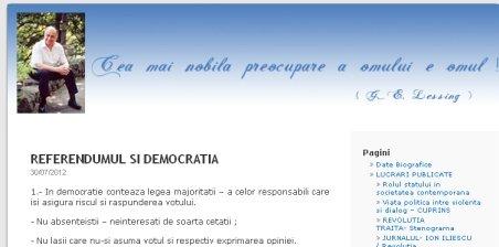 Iliescu: Singura concluzie onorabilă pentru Băsescu ar fi să plece, să-şi dea singur demisia