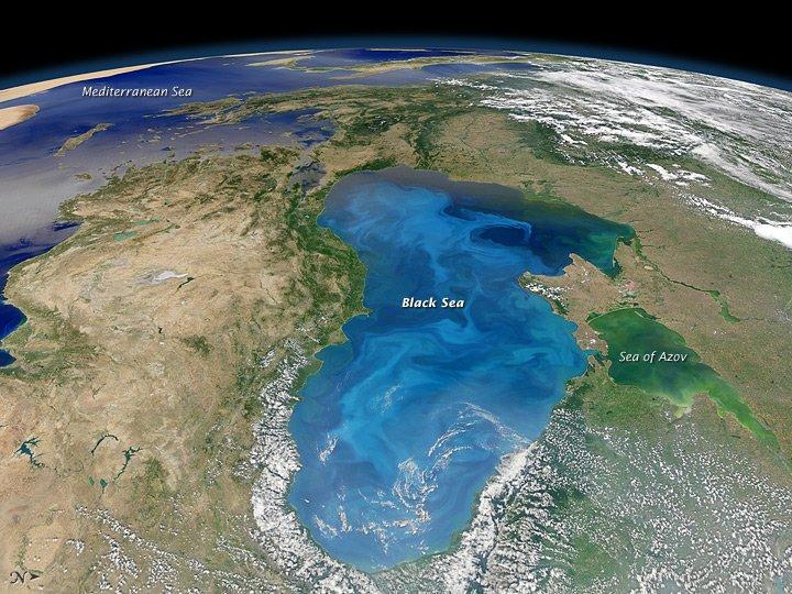 Marea Neagră şi-a schimbat culoarea. Fenomenul i-a uimit şi pe cercetătorii NASA