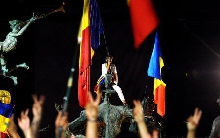 Protestul anti-Băsescu din Piaţa Universităţii s-a încheiat fără incidente majore
