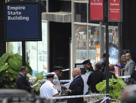 New York. Doi morţi şi nouă răniţi în urma schimbului de focuri de la Empire State Building