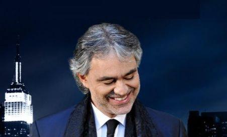 """""""Legenda noului mileniu"""" va concerta pentru prima dată în România. Bocelli va cânta pe 10 mai în Bucureşti"""