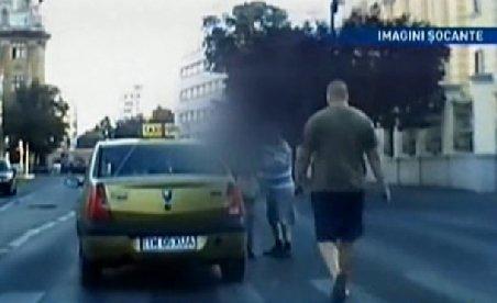 Şoferul justiţiar din Timişoara. A bătut un taximetrist care a lovit o femeie pe trecerea de pietoni