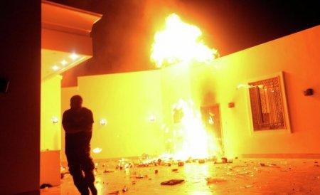 Un restaurant american a fost incendiat la Tripoli. Manifestanţii protestau împotriva unui film antiislam