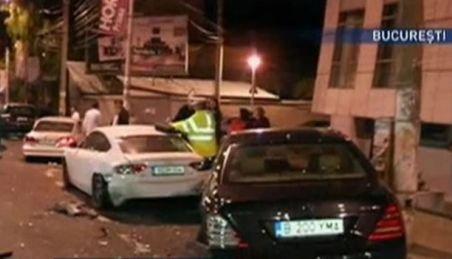 Trei maşini de lux, distruse pe Calea Floreasca de un şofer beat
