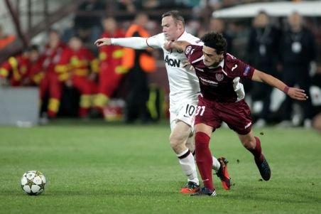 CFR Cluj a pierdut în fața lui Manchester United, dar rămâne pe locul doi în grupa H