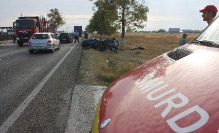 Accident în lanţ pe DN17. Cinci persoane au fost rănite