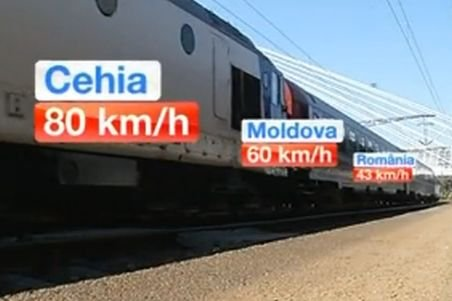 Unul dintre cele mai rapide trenuri din Europa circulă prin România cu viteza unui personal