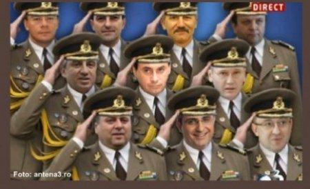 Coloneii lui Băsescu nu rup rândurile. Eroii învinși de armata tinichelelor