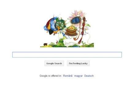Google sărbătoreşte Ziua Naţională a României cu un doodle