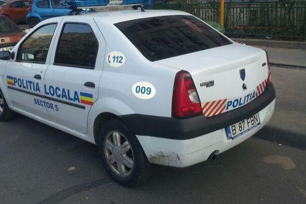 Poliţia are voie să parcheze acolo, dar nu ştiţi voi. Şoferii din Capitală, revoltaţi de această imagine