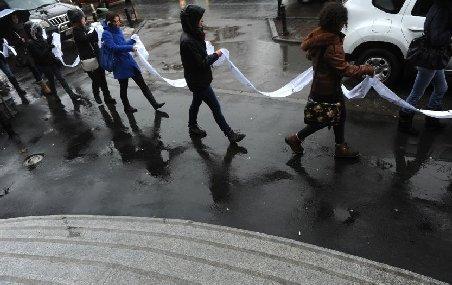 Studenţii români au depus la Guvern o petiţie de peste 100 de metri