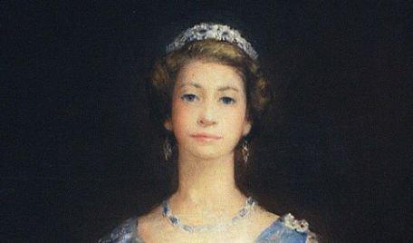 """Un portret al Reginei Elisabeta a II-a, în care aceasta are gâtul """"prea lung"""", expus la Liverpool"""