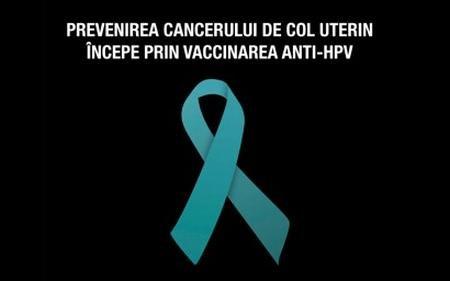 Prevenirea cancerului de col uterin începe prin vaccinarea anti-HPV