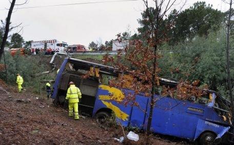 Portugalia. Cel puţin 10 morţi şi 33 de răniţi după ce un autocar s-a răsturnat într-o prăpastie