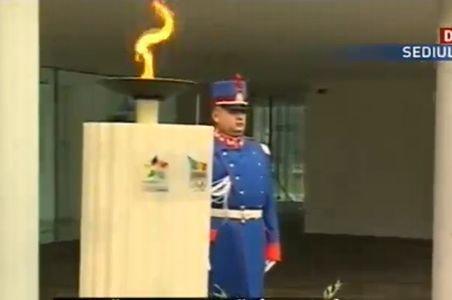 Torţa olimpică, în România cu ocazia Festivalului Olimpic al Tineretului European, ediţia Braşov - 2013