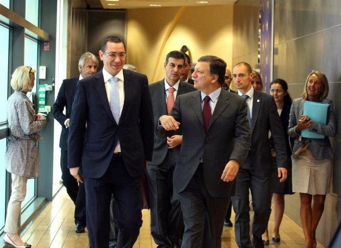 """Victor Ponta, despre """"LISTA DE TEME""""  pe care i-a înmânat-o lui Barroso după întrevederea de la Bruxelles"""