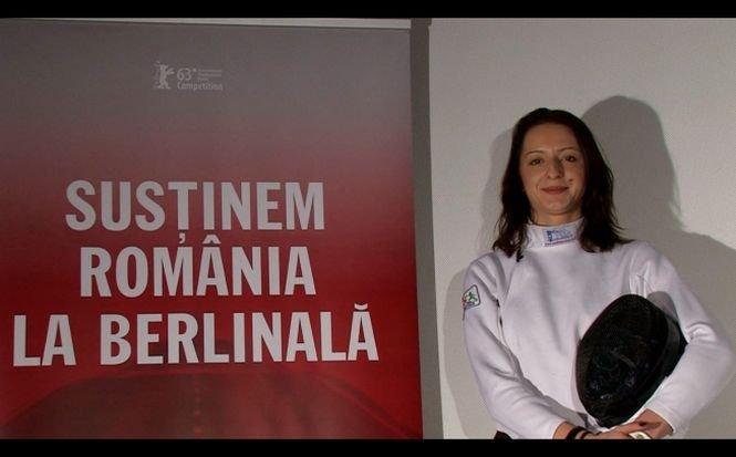 """Campioana Ana-Maria Brânză spune """"Hai România!"""" la Berlinală"""