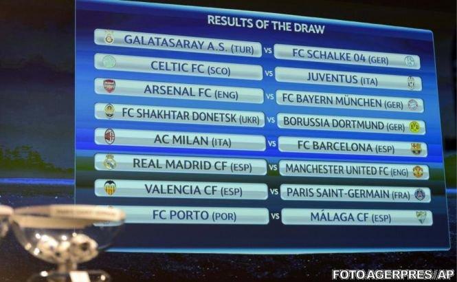 Spectacolul din Liga Campionilor revine: Astăzi se vor disputa primele meciuri din optimile de finală