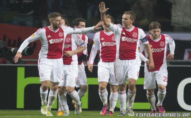 Steaua a pierdut meciul tur din 16-imile de finală ale Europa League, 0-2 cu Ajax Amsterdam