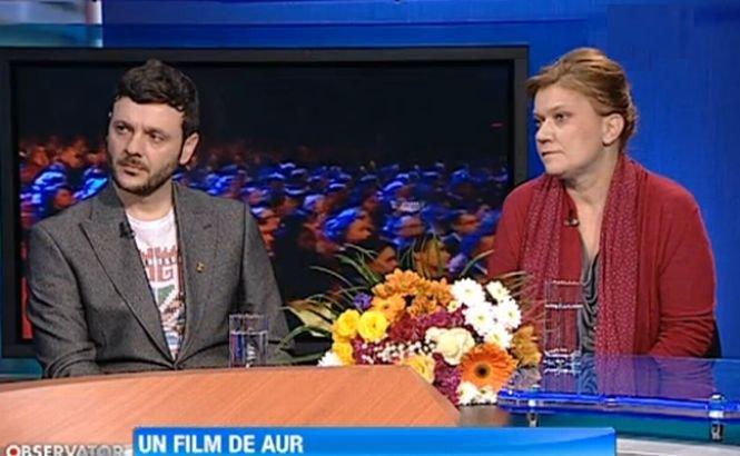 """""""Poziţia copilului"""", un film de AUR. Bogdan Dumitrache şi Ada Solomon, în platoul Observatorului"""