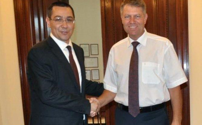 """Ponta susţine că nu îl percepe pe Iohannis ca pe """"rezerva"""" sa: Poate fi şi premier, şi preşedinte"""