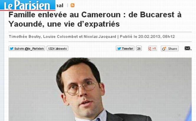 Un fost director al GDF Suez în România, răpit împreună cu soţia şi cei patru copii în Camerun