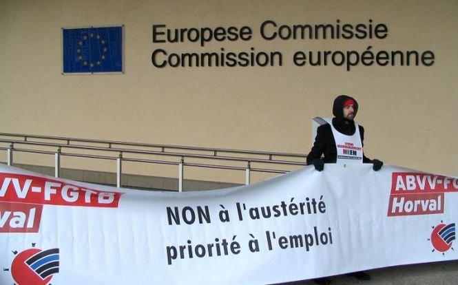 Zeci de mii de sindicalişti au protestat în Belgia faţă de măsurile de austeritate