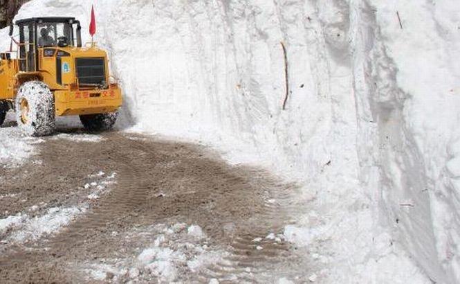 Zăpada le provoacă probleme serioase vecinilor din Ungaria. Ninsorile abundente au îngreunat raficul aerian şi rutier