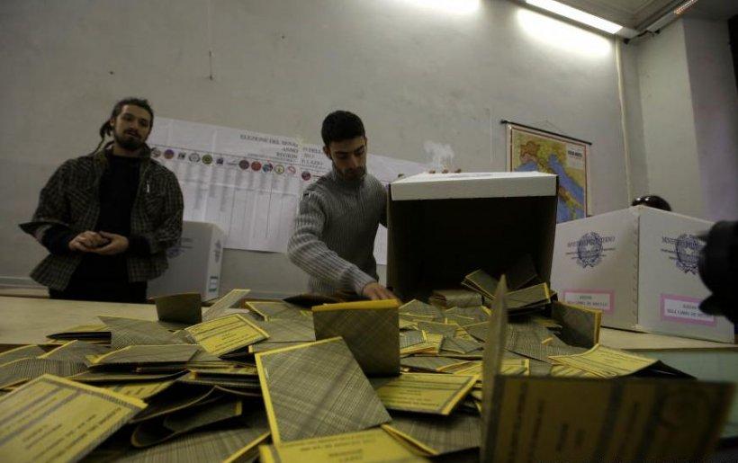 Alegeri în Italia: Coaliţia de stânga, pe primul loc la Cameră, cea de dreapta, fruntaşă la Senat