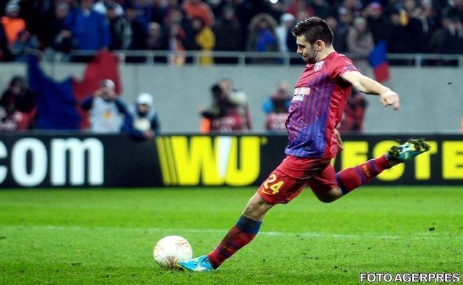 Steaua a câştigat la Cluj şi îşi păstrează avansul de 10 puncte în clasamentul Ligii I