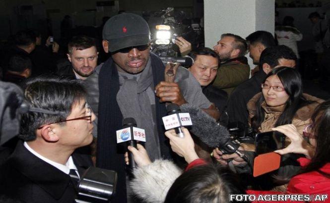 Un excentric la Phenian: Fostul baschetbalist Dennis Rodman vizitează Coreea de Nord