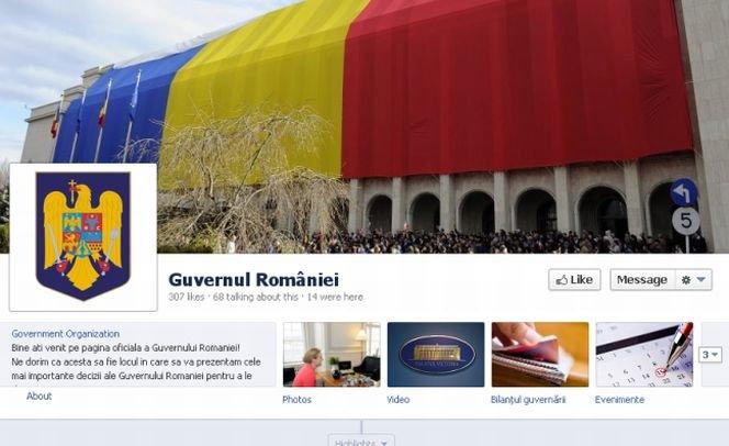 Guvernul României are profil pe Facebook. Care este primul mesaj postat pe reţeaua de socializare