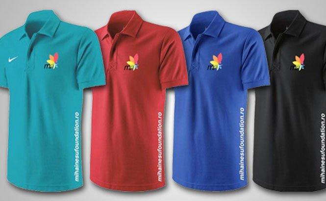 Poţi ajuta Fundaţia Mihai Neşu cumpărând un tricou cu numele şi logo-ul acesteia