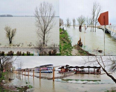 Cod portocaliu de inundaţii pe Dunăre şi în judeţul Satu Mare, pe râul Crasna, până miercuri seară