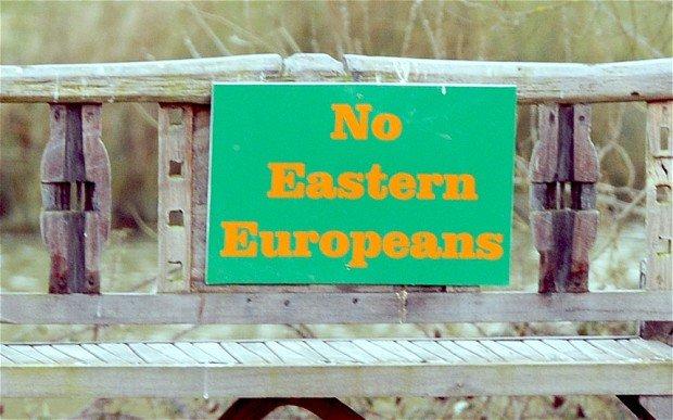 """În Anglia au început să apară mesaje xenofobe: """"Interzis est-europenilor!"""""""