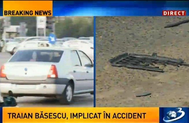 Preşedintele Traian Băsescu, implicat într-un accident rutier