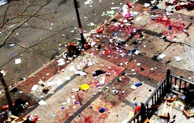 IMAGINI ŞOCANTE din Boston. Una dintre BOMBE, plasată într-o oală metalică. Autorităţile oferă recompensă pentru informaţii despre autorii atacului