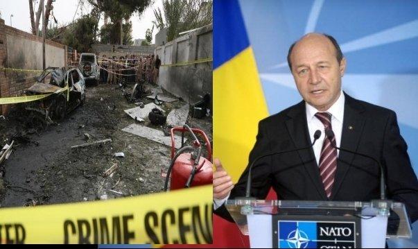 Băsescu îi transmite condoleanţe lui Hollande, după atacul asupra ambasadei din Tripoli
