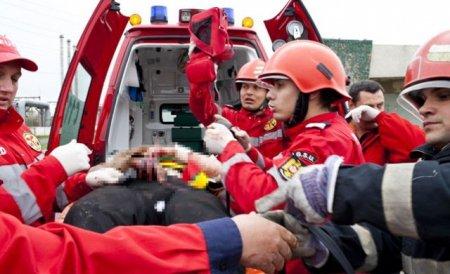 Grav accident în lanţ pe DN7, în Hunedoara.Traficul a fost blocat câteva ore