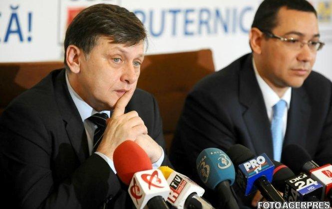 """Întâlnire de urgenţă Ponta-Antonescu, privind criza din USL. """"Nu ştiu acum dacă se rupe USL"""", a spus Ponta"""